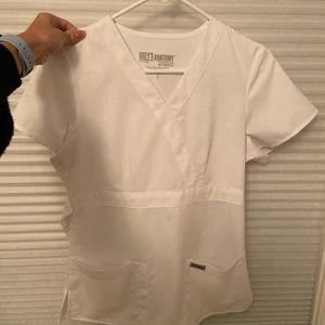 Greys anatomy scrub top white Small